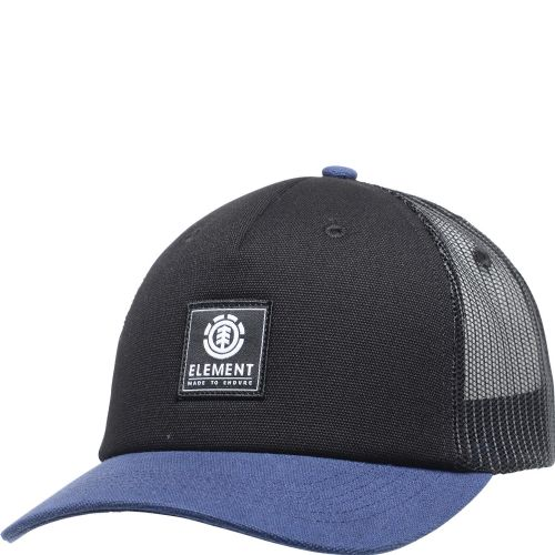 ELEMENT MENS CAP.ICON MESH BLACK BLUE BASEBALL CURVED PEAK TRUCKER HAT 9W TA3 2